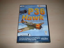 ✈️ FSX P36 HAWK US FIGHTER AIRCRAFT ~ FLIGHT SIMULATOR X FSX ADD-ON *NEW SEALED*