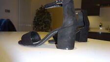 Papaya Black suede effect shoes size 4