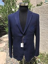 Stefano Ricci Men's Blazer Jacket Gorgeous Mens Sport Coat Size 50,52,54,56 Navy