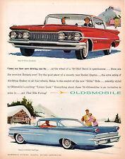 "VINTAGE ORIGINAL 1959 OLDSMOBILE DYNAMIC & SUPER 88 MAGAZINE AD 10"" X 13"""