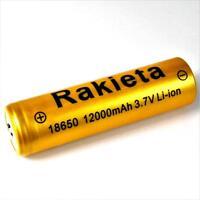 1 x RAKIETA gold 12000 mAh Lithium Ionen Akku 3,7 V  Typ 18650 Li  - ion je 45 g