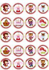 Cialda - Ostia per Cupcakes Cappuccetto Rosso Dischetti da 5 cm. per biscotti