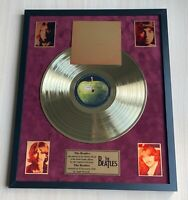 The Beatles The Beatles 1968 Vinyl Gold Metallized Record Mounted In Frame