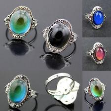 Vintage Mood Ring Changing Color Fashion Temperature Emotion Ring Adjustable
