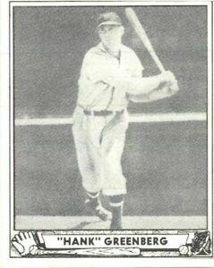 Hank Greenberg 1934 Goudey Carte #62 Réédition Tigers