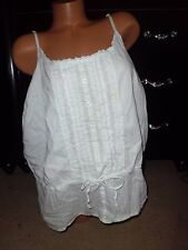 Women's Sonoma white scoop neck 3x peasant style tank top shirt