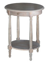 French Provincial Louis XVI Wash White Night Stand with Drawer