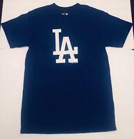 🔴 NEW Los Angeles LA DODGERS Royal Blue Official Logo T-Shirt Size S Mens MBL