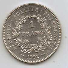 Francia - 1 Franco (República francesa) 1992-níquel – 6 G – Ø 24 mm