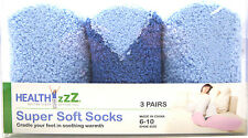 Health Zzz CVS Super Soft Cozy Fuzzy Comfortable Socks 6-10 Blue 3 Pairs