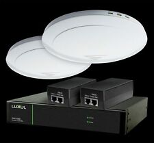 Luxul XWS-2500 Wireless LAN Controller with 2 WAPS, POE Injectors and Rack Ears.