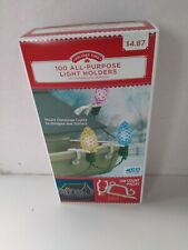 Light Clips Holiday Time 100 All Purpose Various Holiday & Christmas Holders