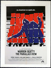 THE PARALLAX VIEW 1974 FILM MOVIE POSTER PAGE . WARREN BEATTY . V44