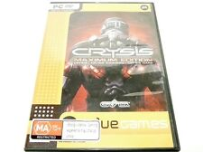 "CRYSIS MAXIMUM EDITION, 4 DISK PC GAME ""PREOWNED"" AUZ SELLER"