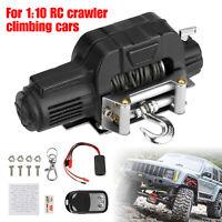Wireless Electric Winch Set for 1:10 RC Car Crawler TRX4 D90 SCX10 D110 KM2 TF2