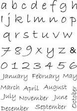 SWEET Dixie Alfabeto mesi TRASPARENTE FOTOPOLIMERO TIMBRI-Planner Diario Calendario