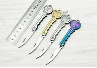 "5"" Mini Key Chain Ring Folding Pocket Knife Outdoor Survival EDC Knife New"