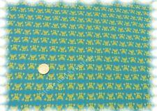 Carl Crabbie Baumwolle Popeline türkis Hilco 50 cm Kinderstoff Webware