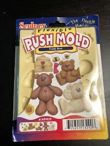 Sculpey Flexible Push Mold Teddy Bear #APM29 2001 New in Box Quick and Easy NOS