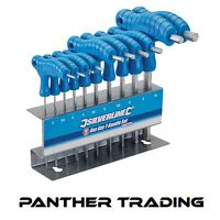 T Bar Driver Dual HEX 10Pcs Piece Metric Allen Key Silverline T-Handle - 323710