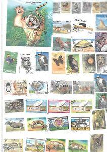 timbres obliteres  SUR LA TANZANIE