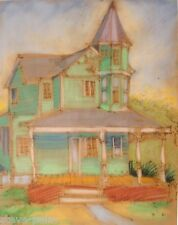 Pastel Art Paintings Victorian House Dana Bolton Signed Vintage