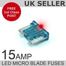 LED 15A Amp Micro Blade Low Profile Fuses *Quantity 10