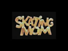 Brilliant Shine Goldtone Skating Mom Lapel Pin - Gift Boxed!