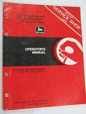 John Deere 235 Wing Fold 235 Dura Cushion Disks A49223 Operator'S Manual