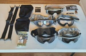 LOT OF MILITARY ESS GOGGLES and parts and accessories