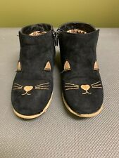 Girls Black Kitty Booties by Cat&Jack Size 11