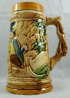 "Vintage Mid-Century German Style Beer Stein 7"" Decorative Ceramic Made in Japan"