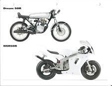 Motorcycle Data Sheet - Honda - Dream 50R NSR50R - 2004 Specifications (DC628)