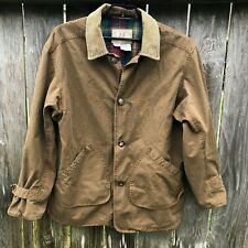 American Eagle Outfitters Vintage Barn Coat Flannel Lined Corduroy Collar Sz M