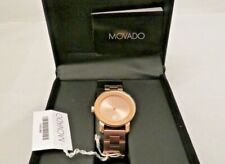 Movado Swiss Bold Rose Gold Ion-Plated Stainless Steel Bracelet Watch 3600086
