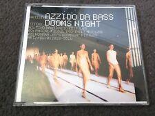 AZZIDO DA BASS DOOMS NIGHT 3 TRACK CD SINGLE TIMO MAAS / NORMAN JAY'S MIXES