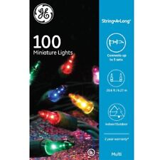 Ge indooroutdoor string light christmas lights ebay ge 100 ct multi color string a long mini christmas string lights colored new cheapraybanclubmaster Images