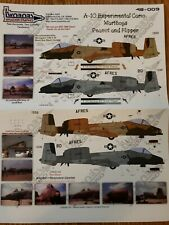 Twobobs Decals 48-009 A-10 Experimental Camo Warthogs Peanut And Flipper