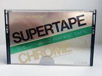 REALISTIC SUPERTAPE CHROME 90 BLANK AUDIO CASSETTE TAPE NEW RARE USA MADE