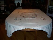 Vintage Embroidered Coverlet/Bed Spread Butterflys & Daisys with French Knotts