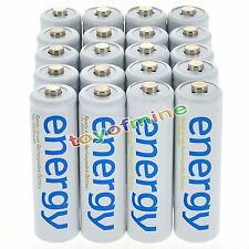 20x AAA 3A 2000mAh 1.2V Ni-Mh Energy Rechargeable Battery White Cell for RC MP3