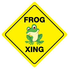 Frog Crossing Funny Novelty Sign