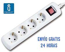 REGLETA CON CABLE DE 5  METROS 4 ENCHUFES CON INTERRUPTOR ENVÍO 24h GRATIS