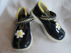 Gymboree Blue White Yellow Daisy Mary Janes Size 6 Vintage