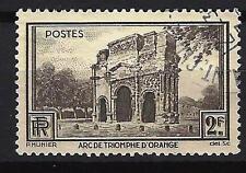 France 1938 Arc de Triomphe d'Orange Yvert n° 389 oblitéré 1er choix (2)