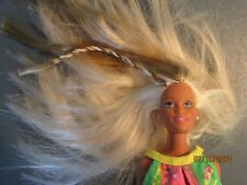 Vintage 2 tone Blonde hair with braid, jointed Barbie doll