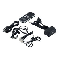 Rechargeable 8GB Steel Digital Sound Voice Recorder Dictaphone MP3 Player FT