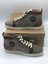 Mens Christian Louboutin Strass Sneakers Swarovski Size 42.5 Us 8 $3k 100% Auth