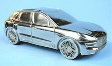 PORSCHE MACAN TURBO CHROME METAL ADVERTISING PAPERWEIGHT LIMITED EDITION MODEL