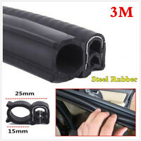 3M Steel Belt Rubber Seal Strip Car Doors Edge Protect Dustproof Weatherstrip